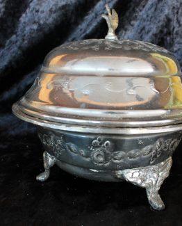 zilverkleurig schaaltje met deksel (1)