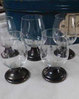 glazen op zilveren poot (4)